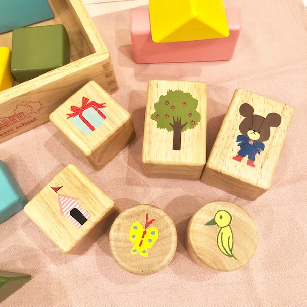 音積み木/木製/くまのがっこう/だいすきおとつみき/ベビー/出産ギフト/知育玩具