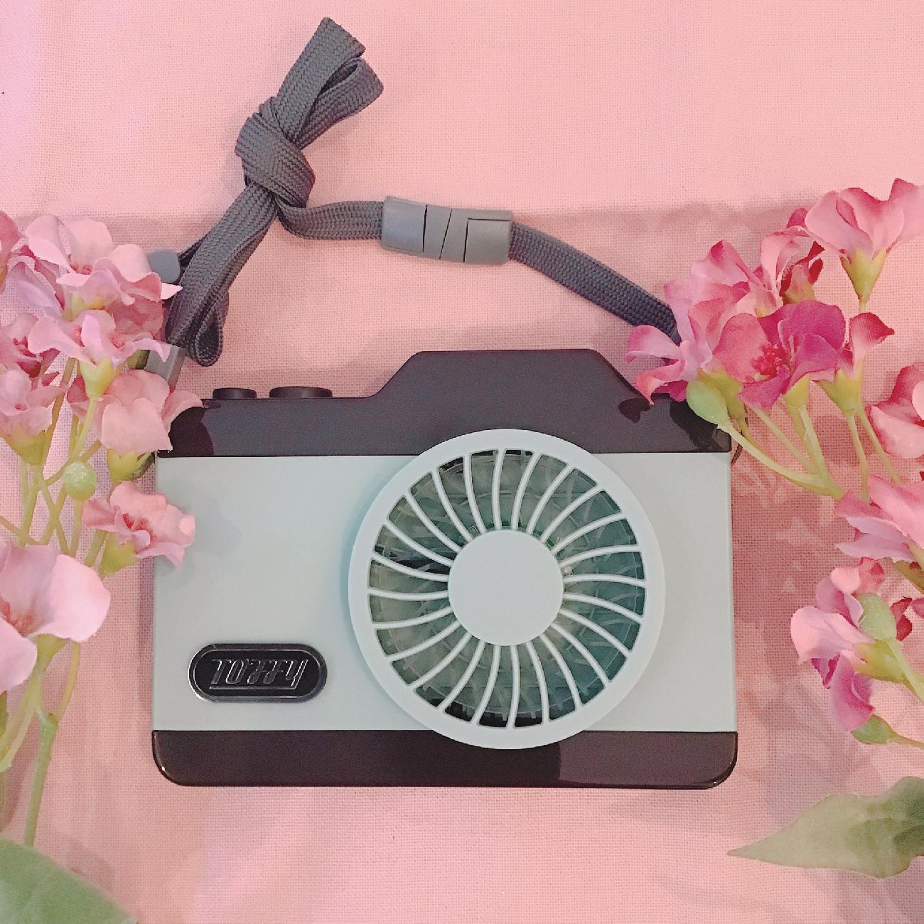扇風機/カメラファン/ハンズフリー/お出かけ/LED/夏/涼しい/首掛け/アウトドア/レジャー/キャンプ