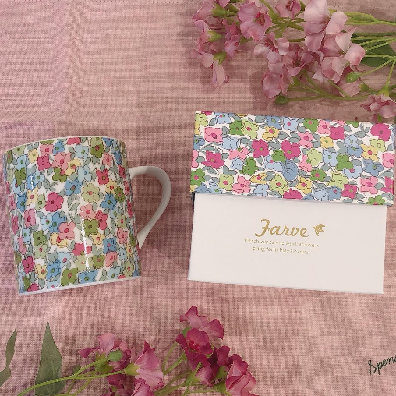 マグカップ/母の日/ギフト/プレゼント/かわいい/お花/花/飲み物/コップ/贈り物/雑貨/おうちカフェ