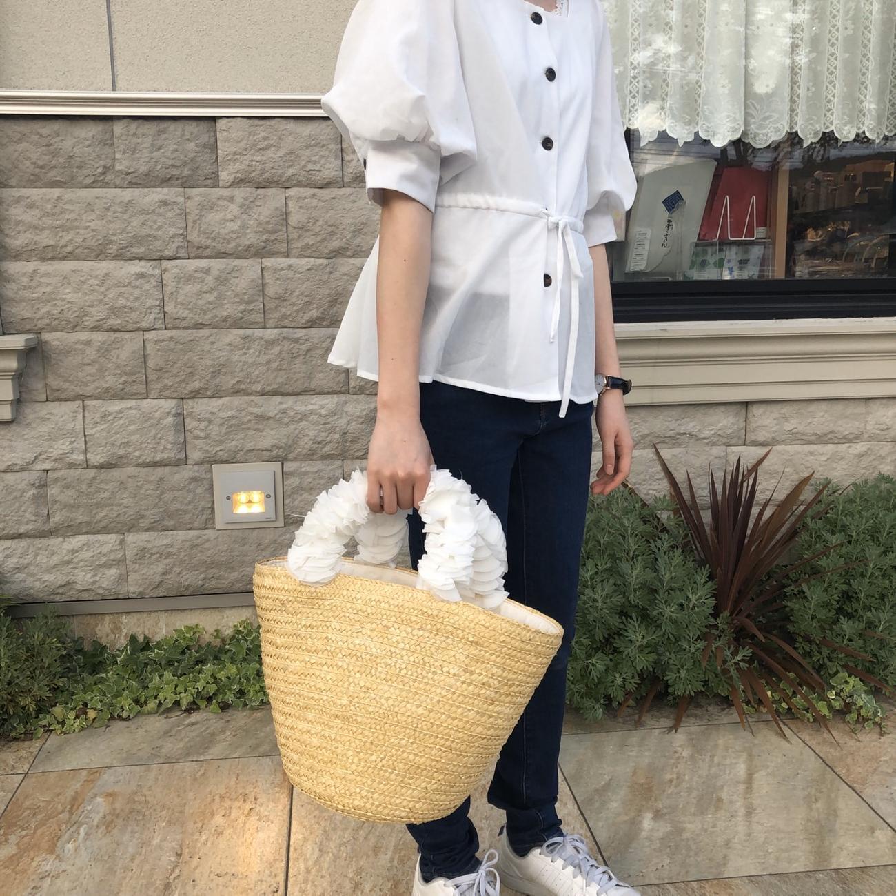 カゴバッグ/夏/夏コーデ/コーディネート/お出かけ/大人可愛い/雑貨