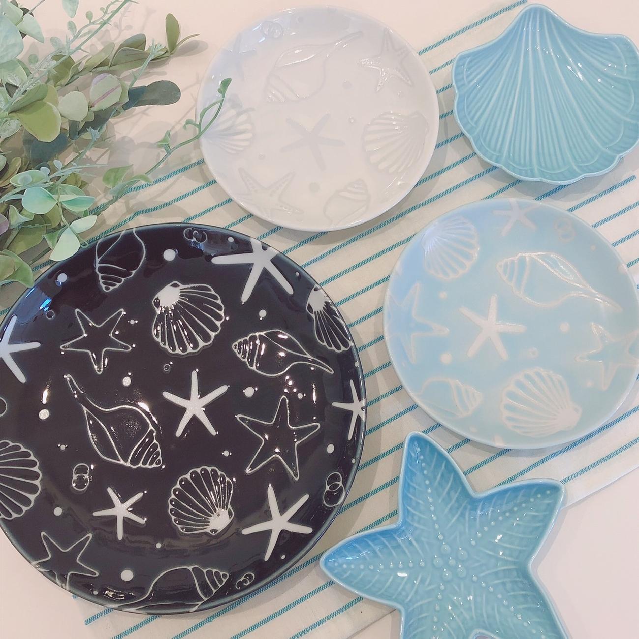 夏/食器/貝殻/コップ/食卓/かわいい/爽やか/涼しげ/ギフト/贈り物/プレゼント