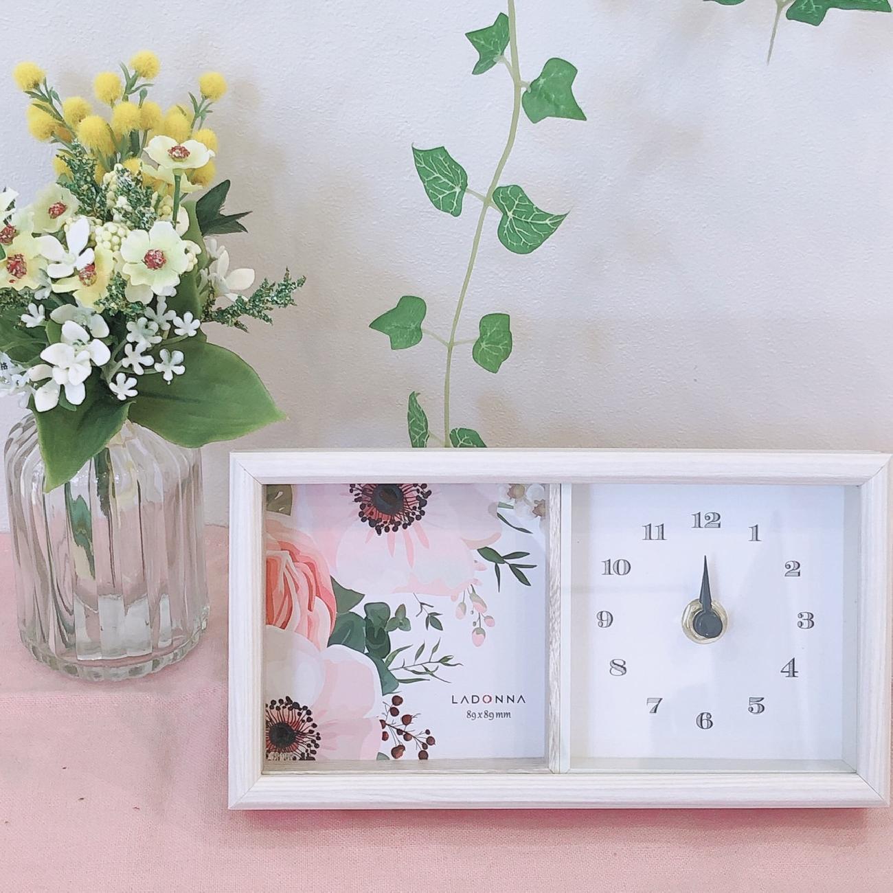 時計/フォトフレーム/おしゃれ/大人可愛いインテリア/プレゼント
