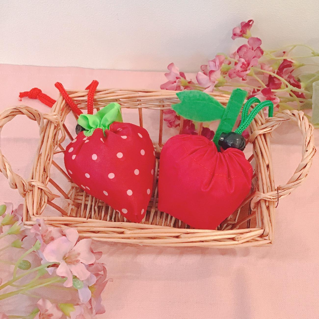 エコバッグ/いちご/りんご/可愛い/エコ/お買い物/フルーツ