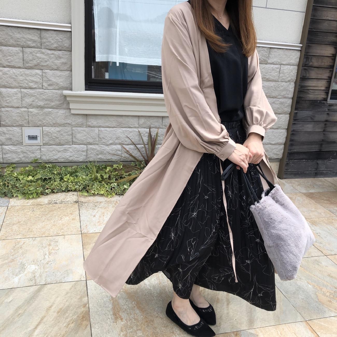 ワンピース/羽織り/コーディネート/秋/ファッション/雑貨屋/津山