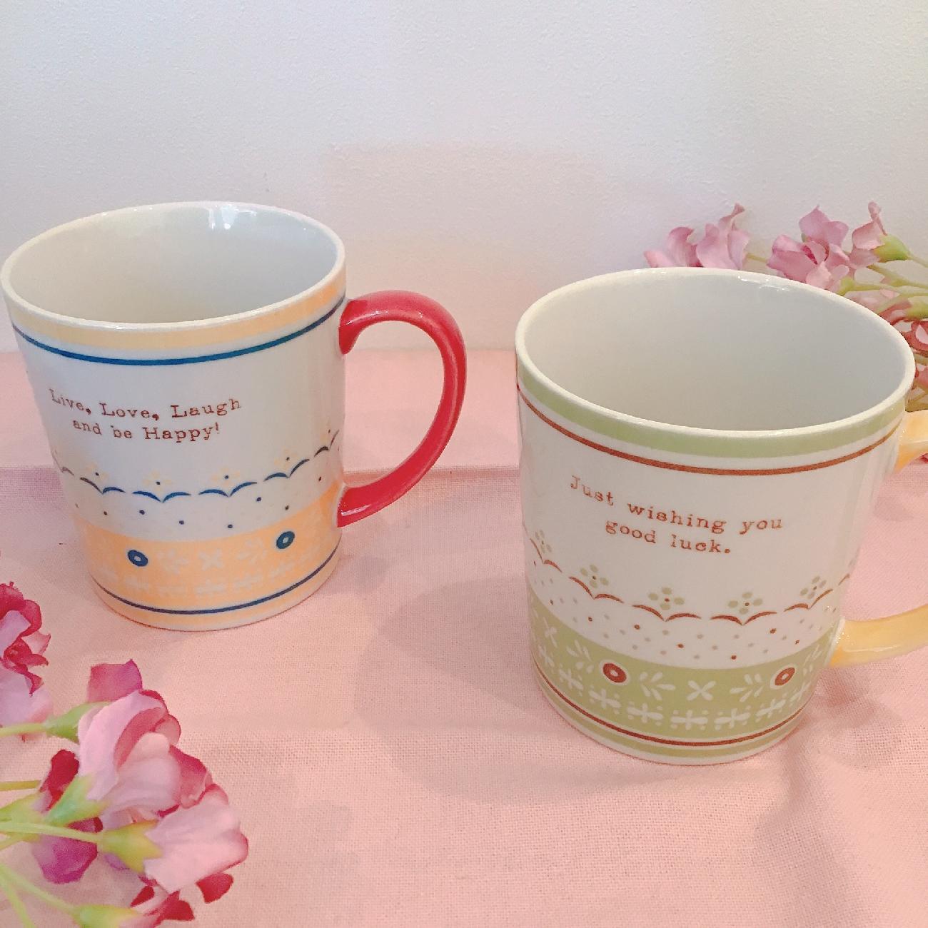 マグカップ/可愛い/紅茶/コーヒー/あたたかい/ティータイム/リラックスタイム/ティー/カップ