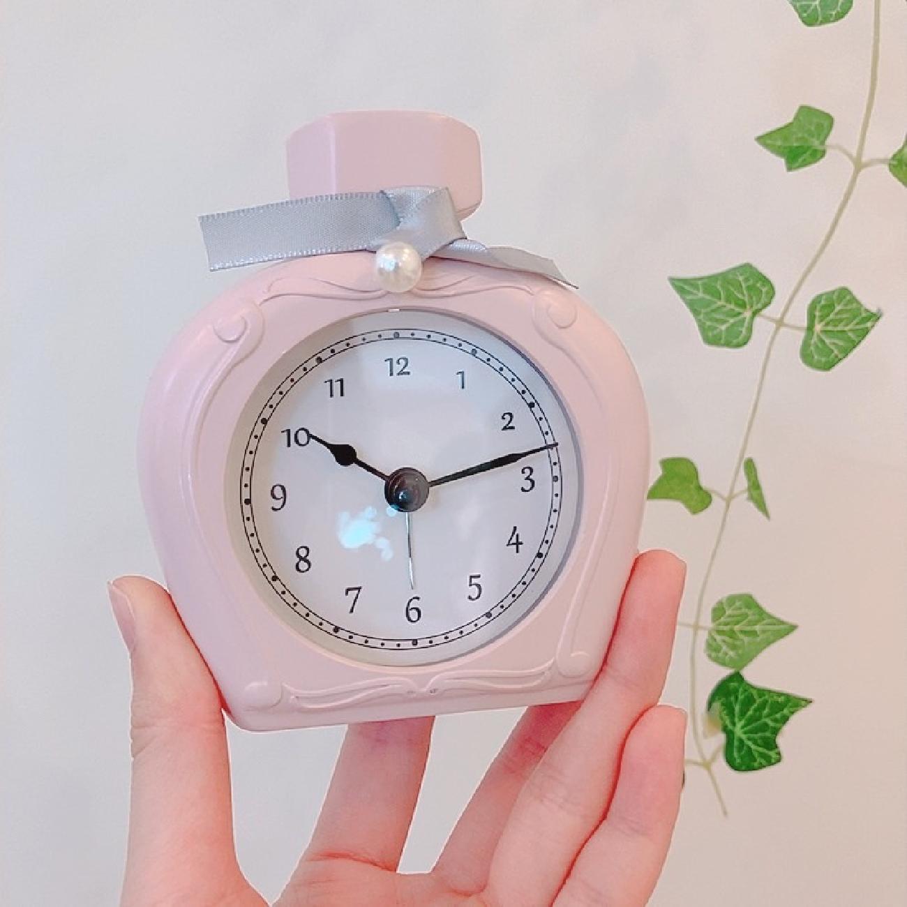 置時計/マルモアラームクロックパフューム/おしゃれ/ピンク /ホワイト/目覚まし/かわいい/プレゼント/ギフト