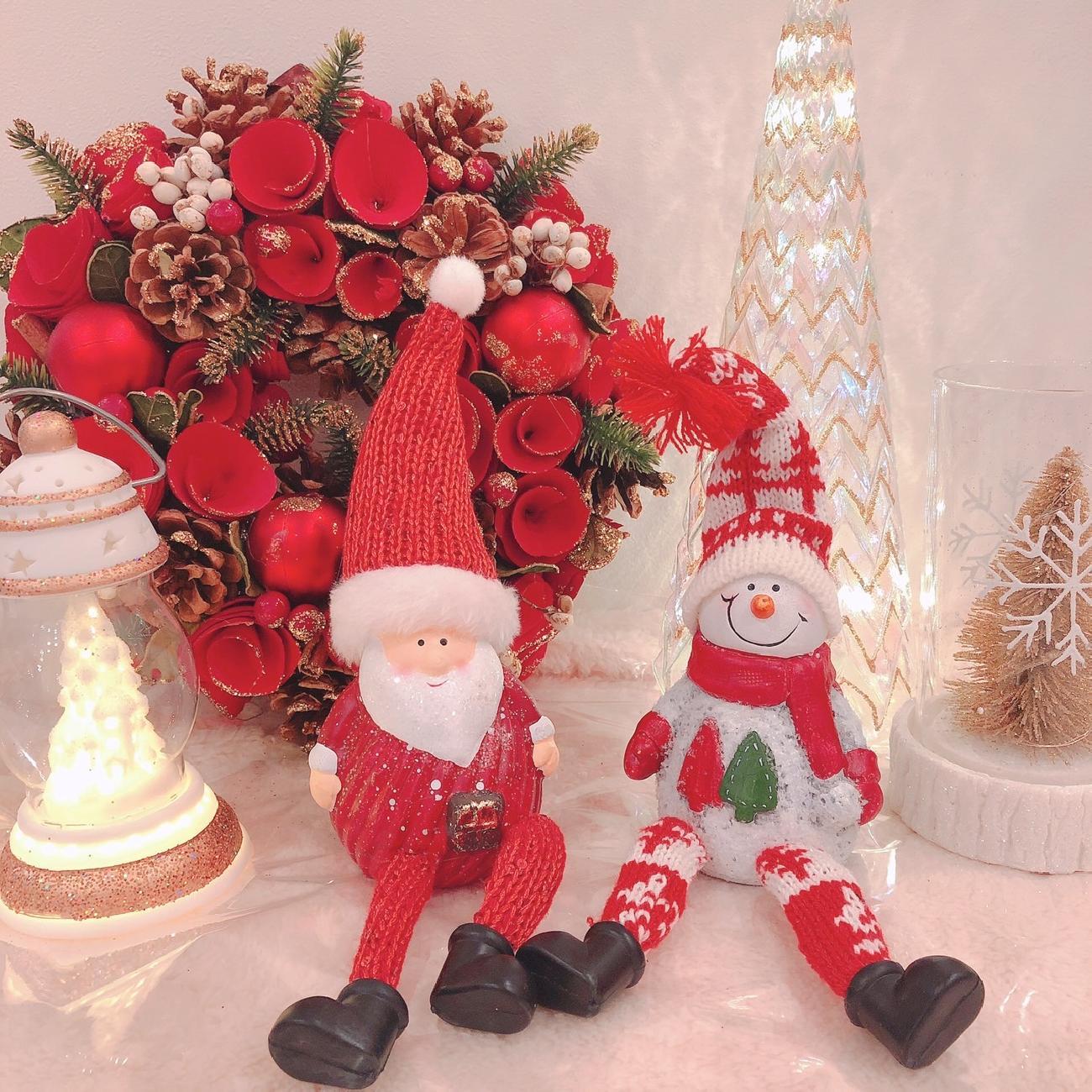 クリスマス/おうち時間/デコレーション/リース/LEDライト/冬ギフト