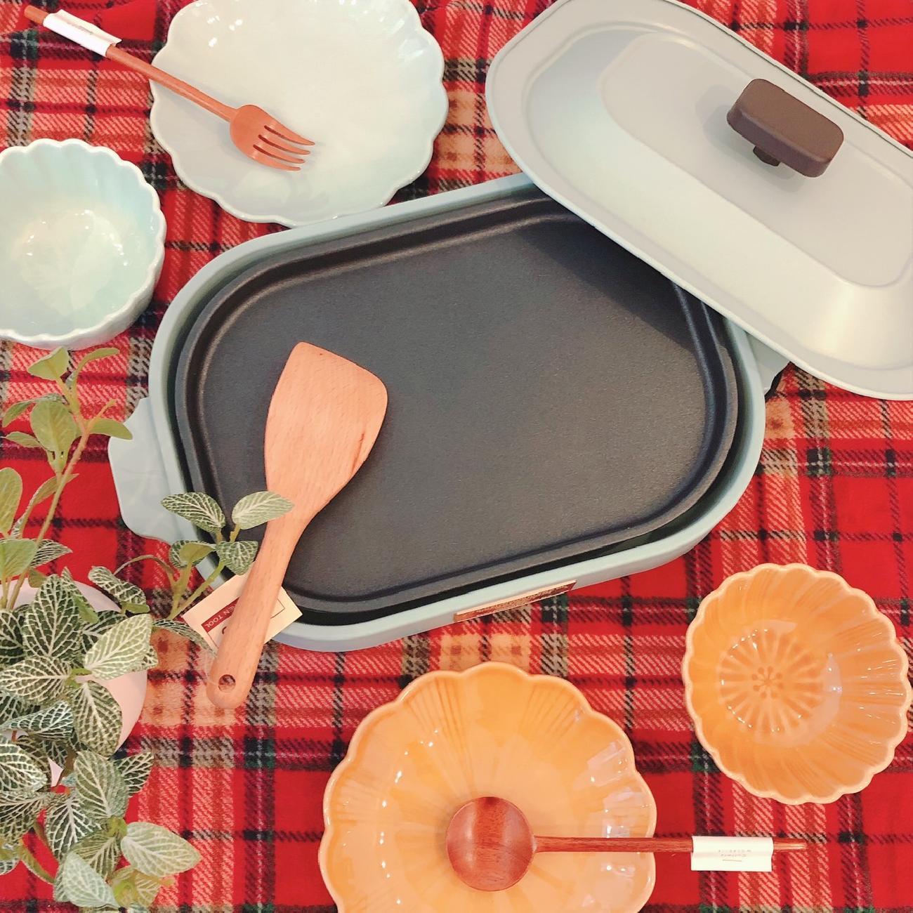 コンパクトホットプレート/ホットプレート/おうちごはん/家ごはん/料理/豊かな食卓