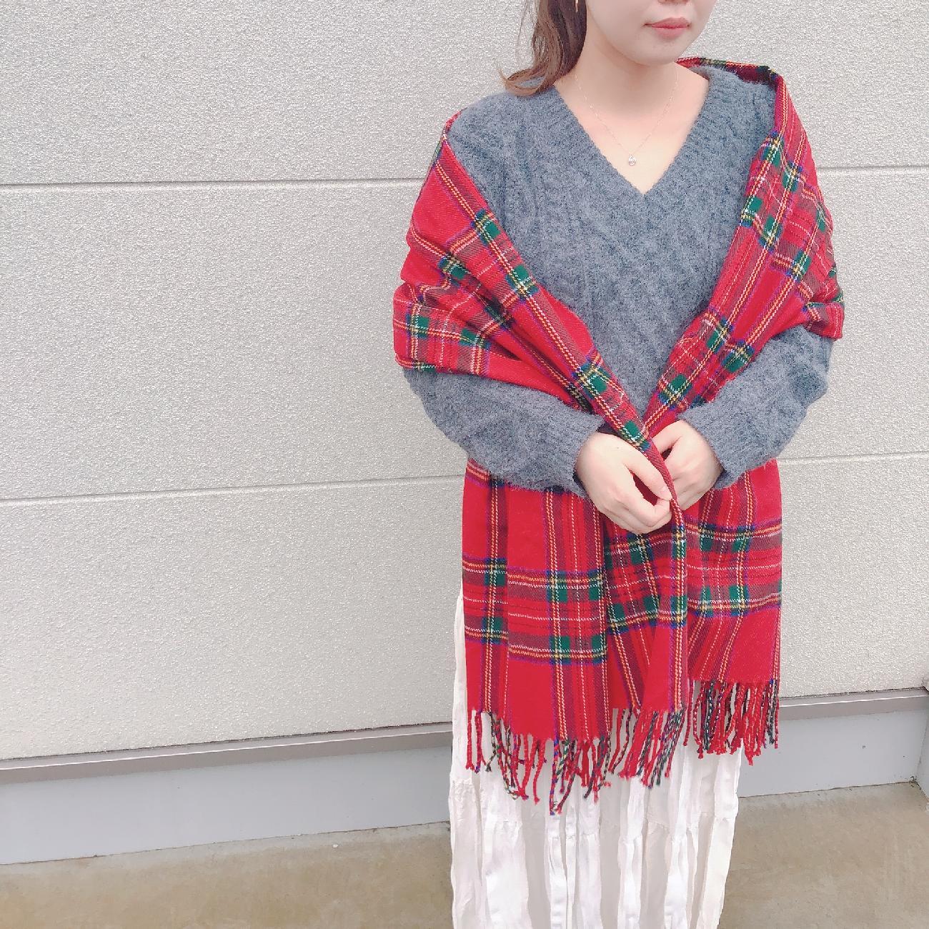 マフラー/ストール/大判ストール/ひざ掛け/羽織り/ファッション/コーディネート