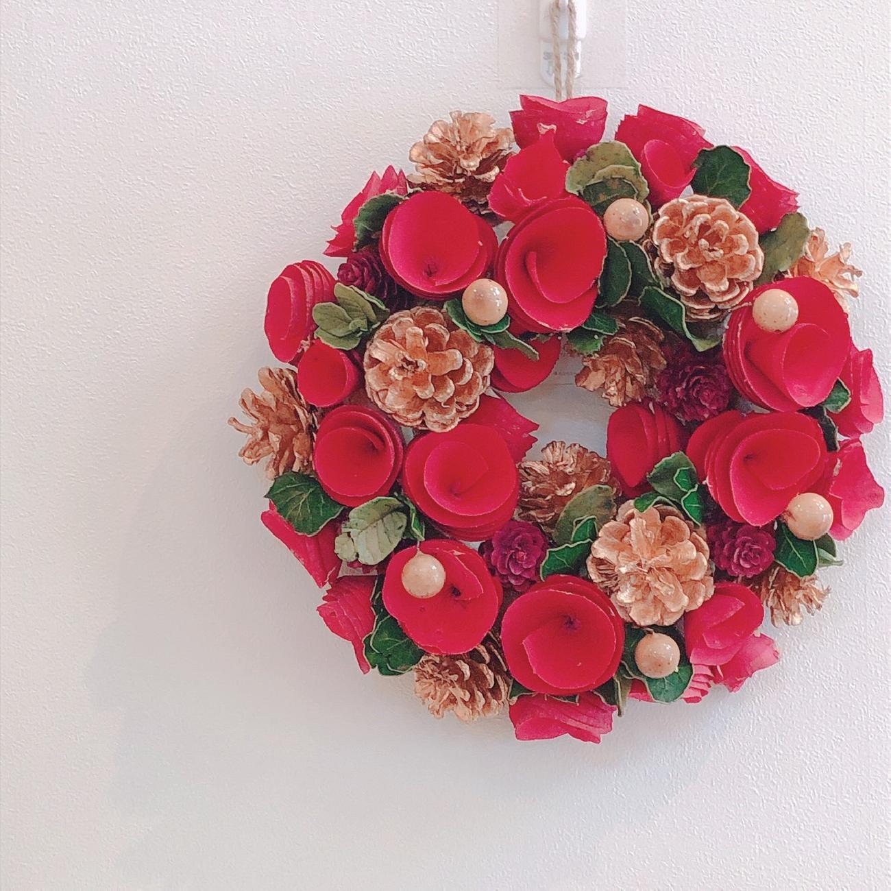 クリスマス/リース/おうち時間/季節を楽しむ/インテリア雑貨