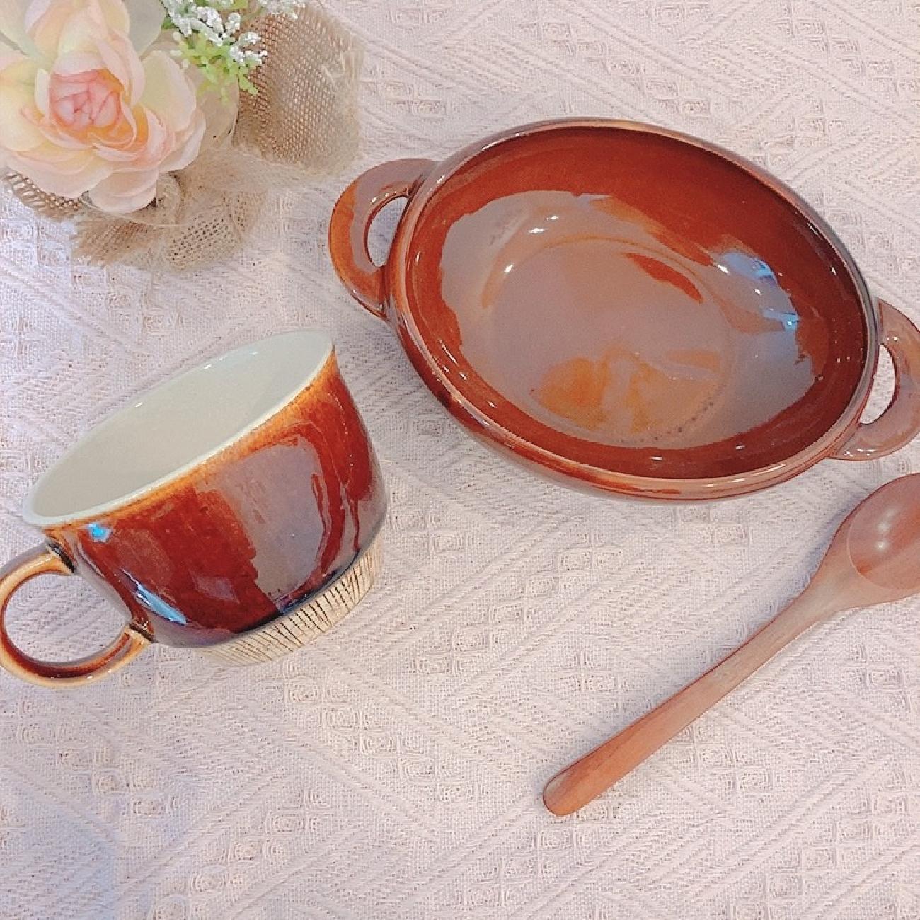 グラタン/グラタン皿/お洒落/食器/食卓/料理/スープカップ