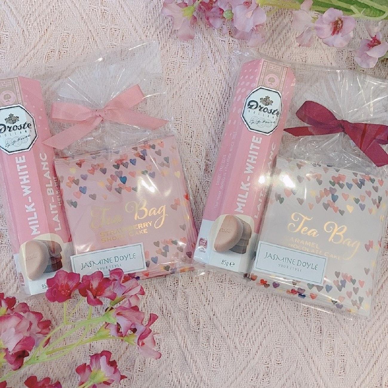 バレンタイン/チョコレート/クッキー/紅茶/ハンカチ/嬉しい/花/可愛い/おいしい/ギフト/プレゼント/贈り物/感謝