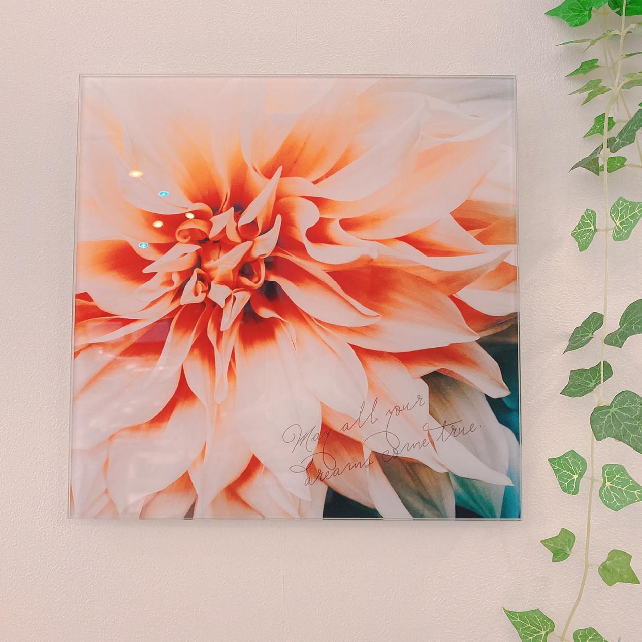 ガラスデザインボード/インテリア/オシャレ/模様替え/おとなかわいいインテリア/フラワー/花柄