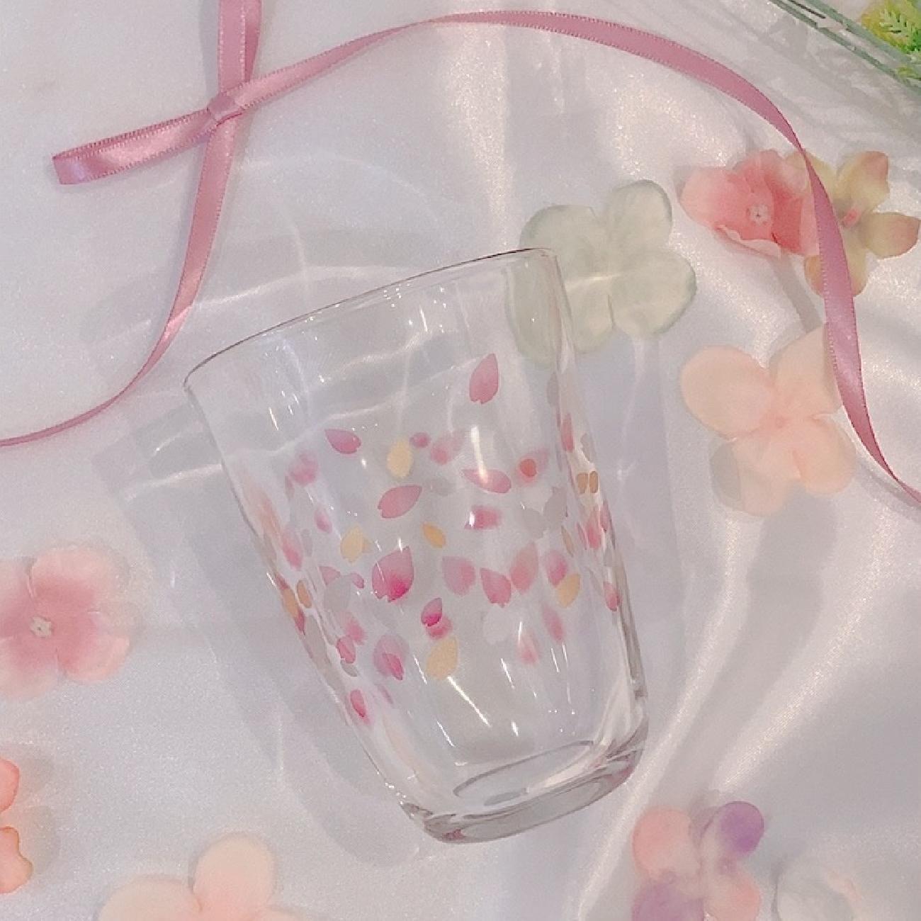 テビネリハルイロタンブラー/タンブラー/グラス/ペア/ペアグラス/セット/ペアセット/可愛い/夏/夏グラス/花/花びら/花柄