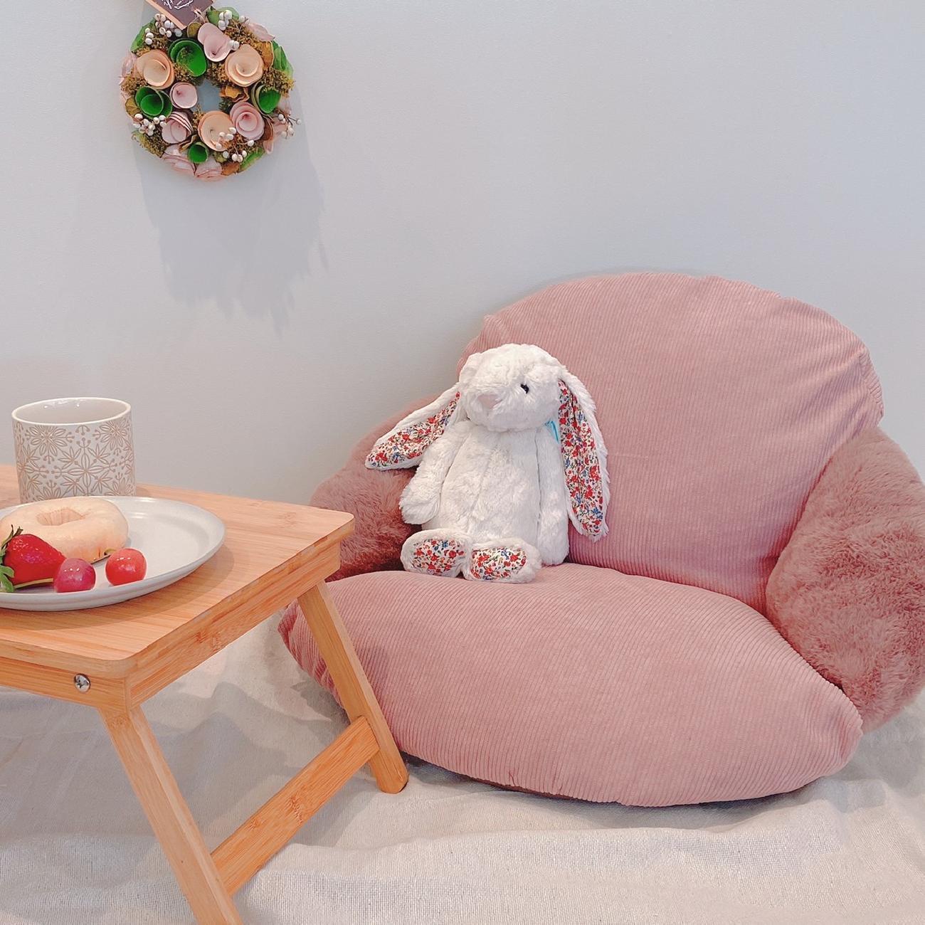 椅子ザブ/座椅子/インテリア/コーデュロイ/ファー/秋のインテリア/贈り物/敬老の日/おうち時間/リラックス